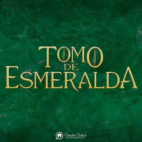 Criação de identidade visual para a obra literária Tomo de Esmeralda.