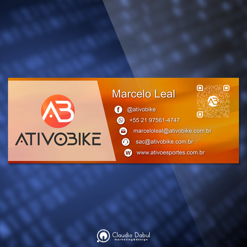Assinatura de e-mail para empresa Ativobike.