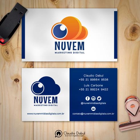 Cartão corporativo para a empresa Nuvem Mídias Digitais.
