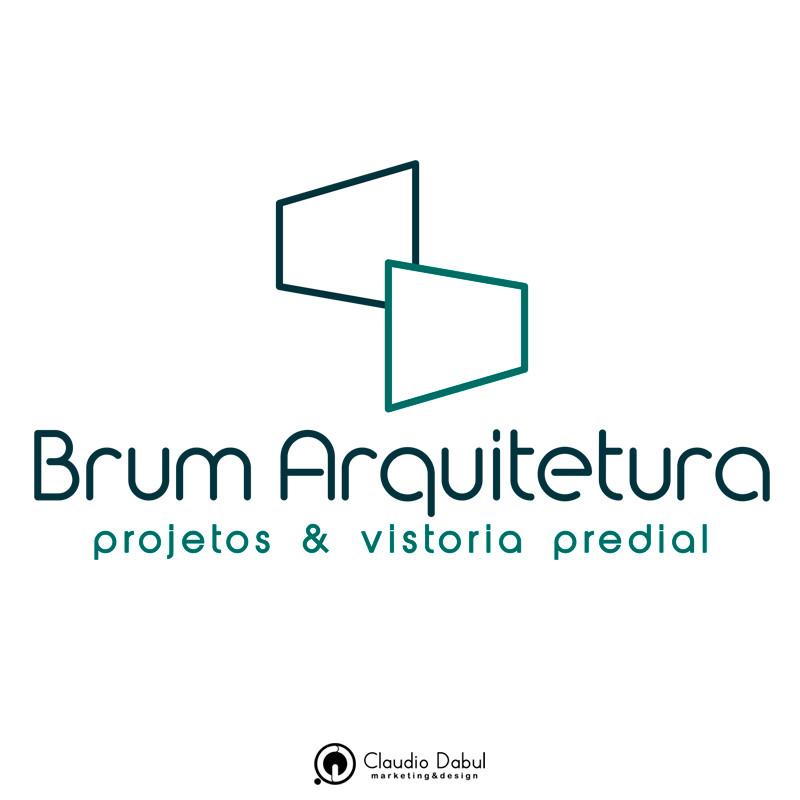Criação de identidade visual para a empresa Brum Arquitetura.  O projeto contou com a criação de tipologia própria para a empresa.