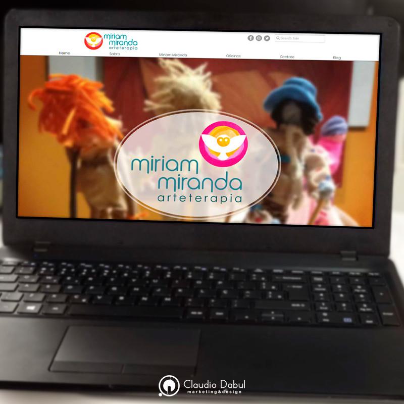 Website corporativo para arteterapeurta Miriam Miranda.