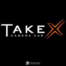 Identidade visual para a produtora Take X Camera Car.