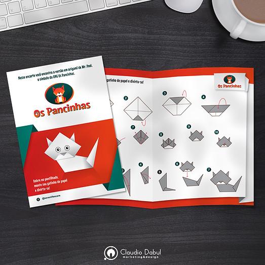 Folder promocional para ONG Os Pancinhas.