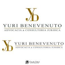 Criação de identidade visual para o advogado Yuri Benevenuto.