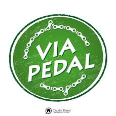 Criação da logo para a empresa de cicloturismo Via Pedal.