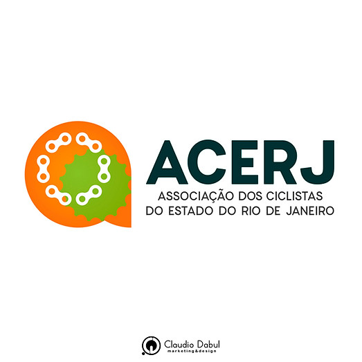 Criação de identidade visual para ACERJ - Associação de Ciclistas do Estado do Rio de Janeiro.