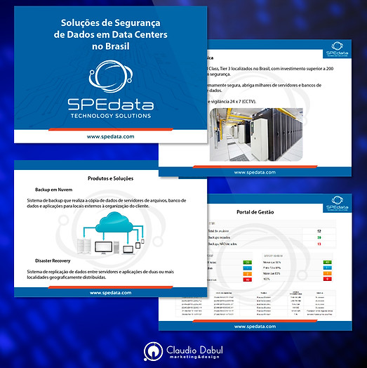 Diagramação de apresentação Power Point para a para empresa de SPEdata.