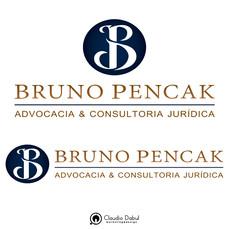 Criação de identidade visual para o advogado Bruno Pencak.