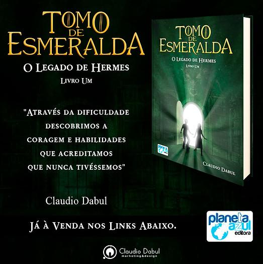 Criação de capa e diagramação obra literária Tomo de Esmeralda.