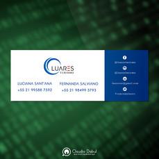Assinatura de e-mail para a empresa Luares Turismo.