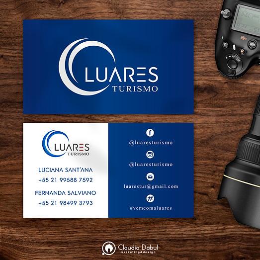 Cartão corporativo para a empresa Luares Turismo.
