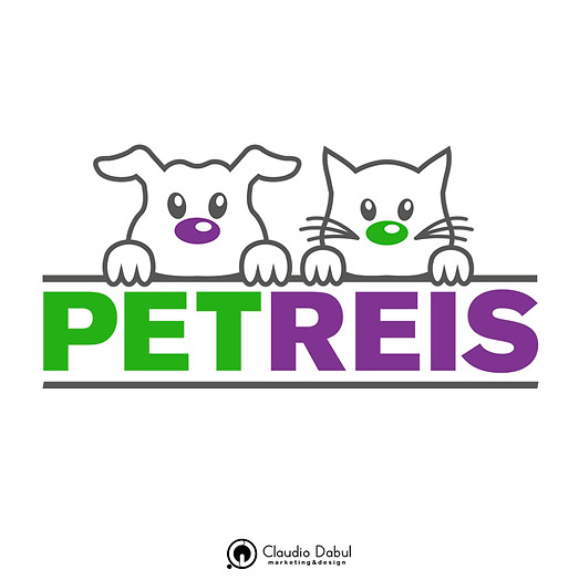 Criação da logo para a petshop PetReis.