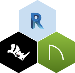 The logos for Rhino, Revit, and Chief Architect