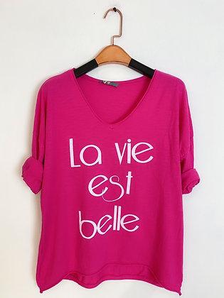 Tshirt  manche longue « La vie est belle»