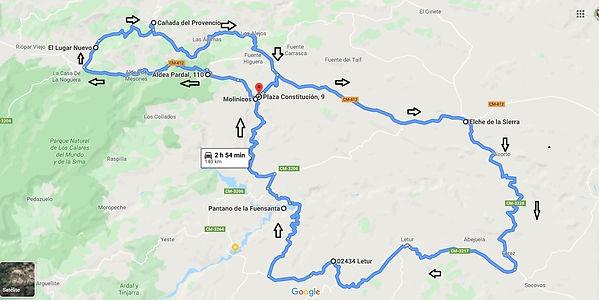 Mapa recorrido Largo