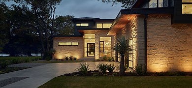 Modern Texas Hill Country Custom Home Front Door Entry