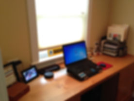 Tidy desk after proessional organizng help in Beaverton, OR