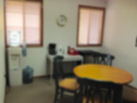 Organized office break room in Portland OR