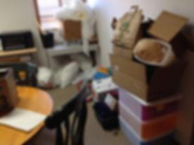 Disorganized office break room in Portland, OR