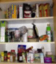 A disorganied pantry