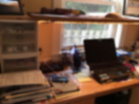 Messy desk in Beaverton, OR