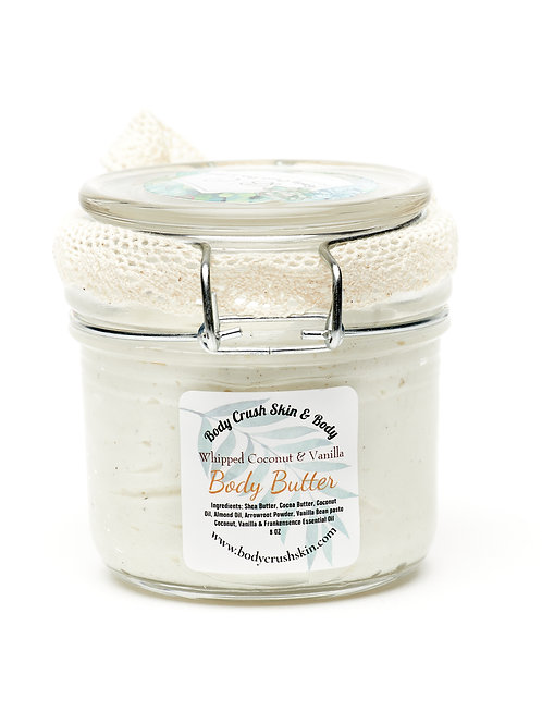 Whipped Coconut and Vanilla Body Butter (8 oz.)