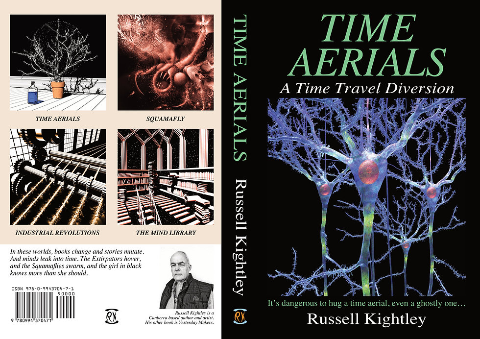 TIME AERIALS PAPERBACK COVER front and back