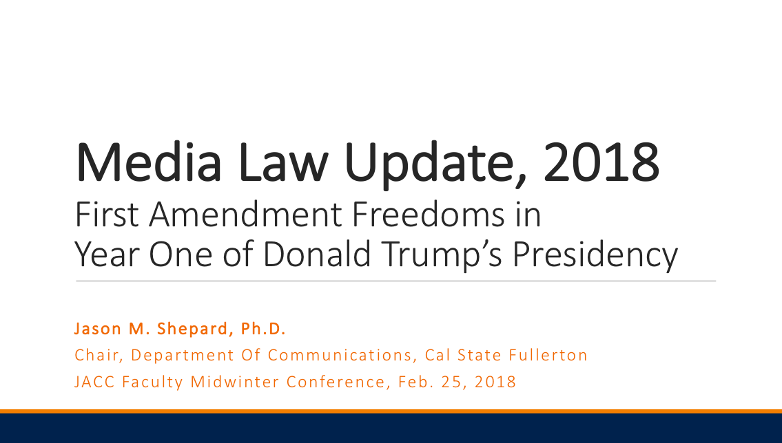Media Law Update 2018 Image