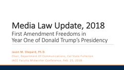 Media Law Update 2018 Image