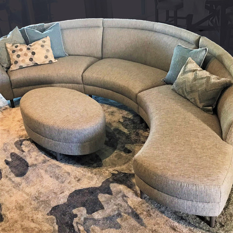 Whether you call them curved sofas, conversation sofas or crescent sofas, they are AMAZING!