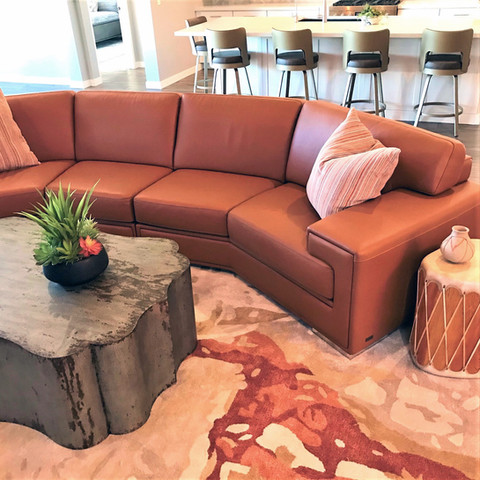 Finding the perfect area rug for a space can add so much personality. Float your furniture on an enormous rug to keep things plush underfoot. Can't find a rug big enough for your space? Many rugs can be made in custom sizes and shapes. Carpet can also be cut and bound to the ideal rug size and shape. Layer them. Experiment with angles... rugs don't always need to be straight.