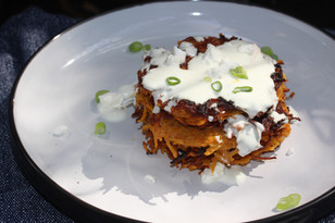 How to make Sweet Potato Latkes- Recipe The Forest Feast