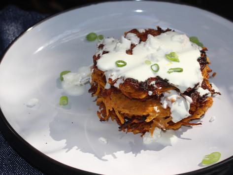 How to make Sweet Potato Latkes- Recipe The Forest Feast