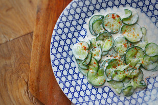 Hungarian cucumber salad (Uborka Salata)