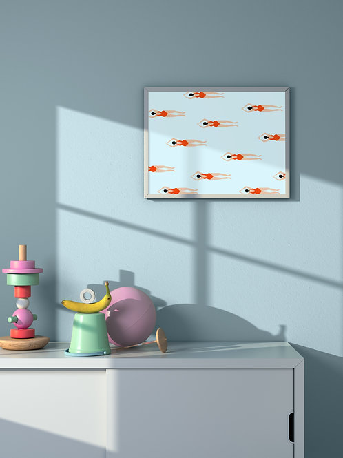 Tiny Swimmers | Framed Poster