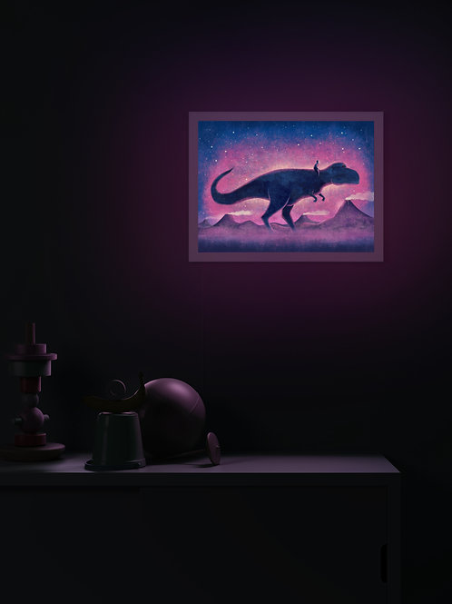 Human Figure with T-Rex | Lightbox