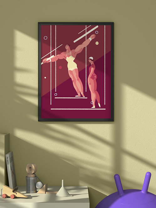 Trapeze Artists | Framed Poster