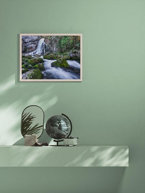 Mountain Stream | Salzburg | Framed Poster