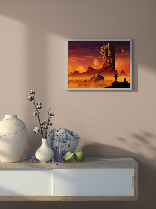 Lava Surface | Framed Poster