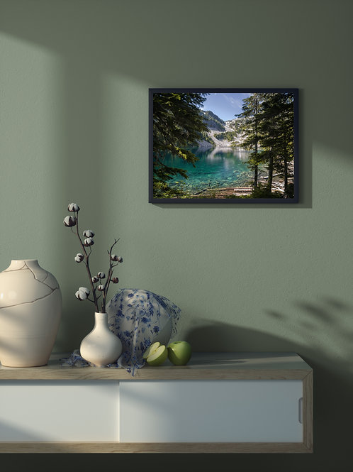 Crystal Clear Alpine Lake | Framed Poster