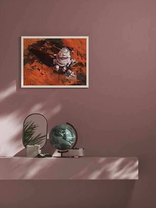 Ambition 1 Lander | Framed Poster