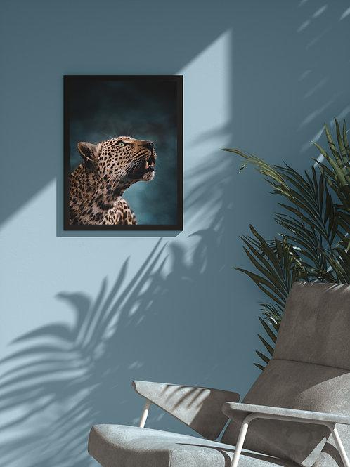 Leopardess Portrait   Framed Poster
