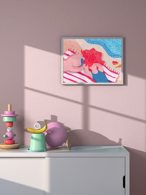 At the beach | Framed Poster