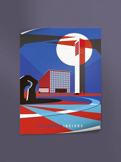 Columbus Indiana   Poster