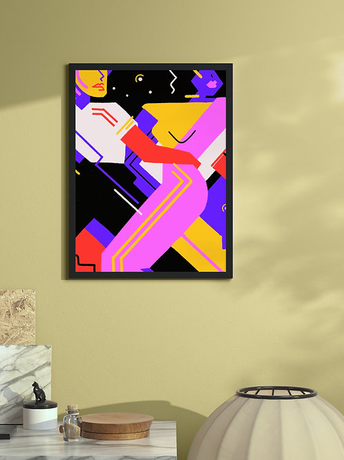 Hypnotic Tango | Framed Poster