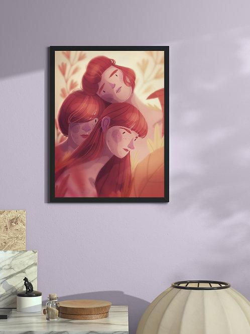 Polyamorous Trio | Framed Poster