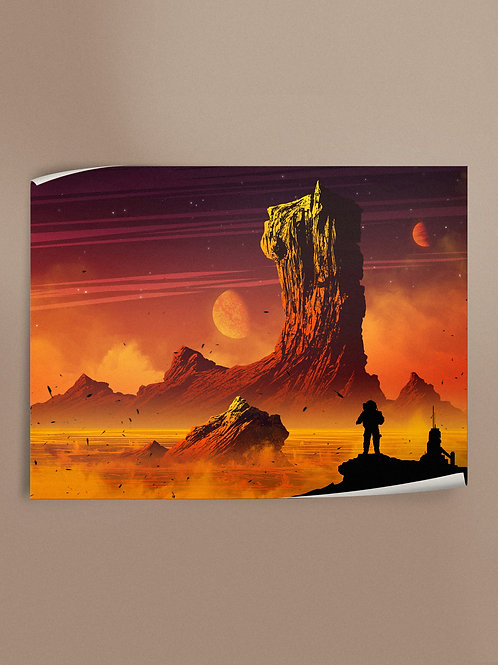 Lava Surface | Poster