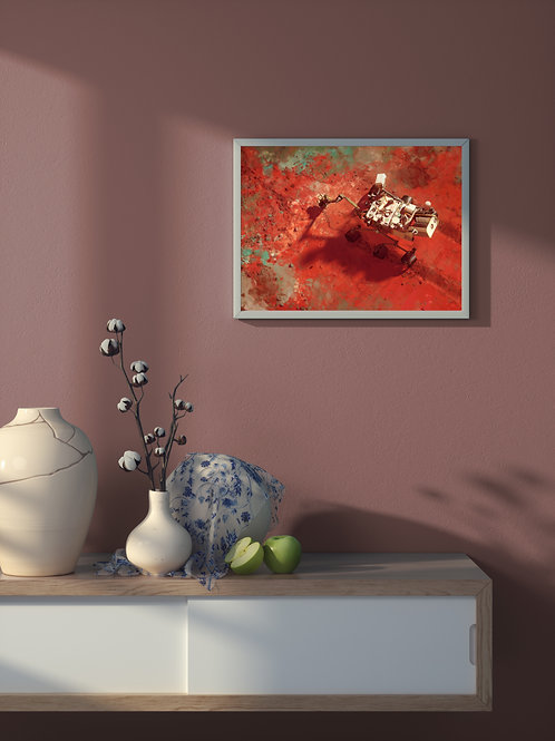 Mars Science Laboratory - Curiosity | Framed Poster