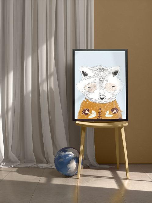 Rocky Raccoon   Framed Poster