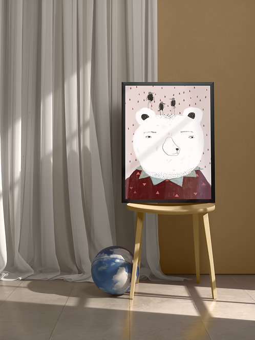 Suspicious Bear | Framed Poster